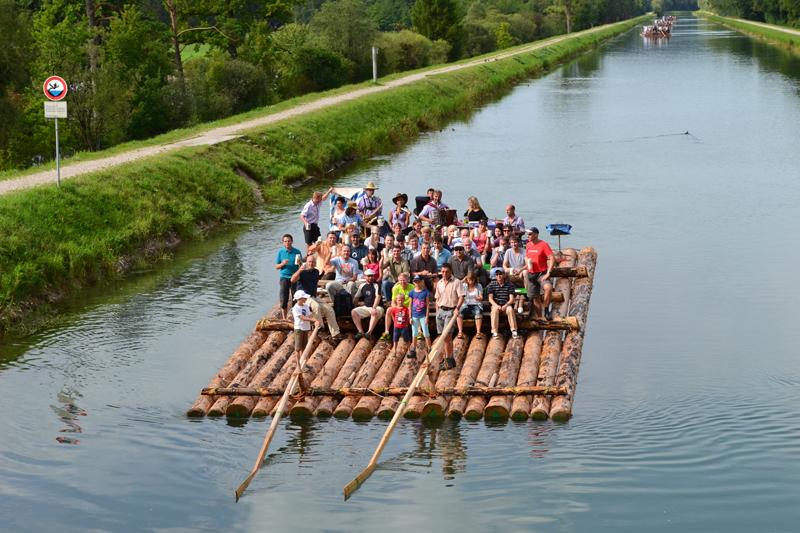 Floßfahrt auf der Isar - Isarflossfahrten - Bayern